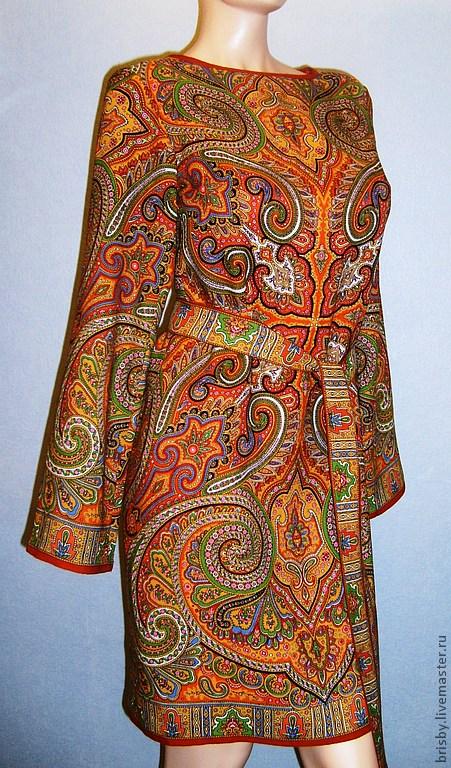 Платья из павлово-посадских платков своими руками
